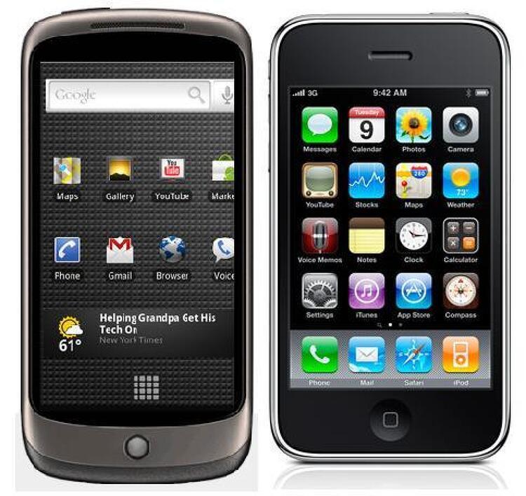 간단 비교: 안드로이드와 차기 아이폰, 어떤 것을 고를 것인가