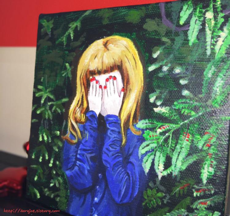 힐링그림, 우울할 때 대신 울어주는 손그림 일러스트레이션