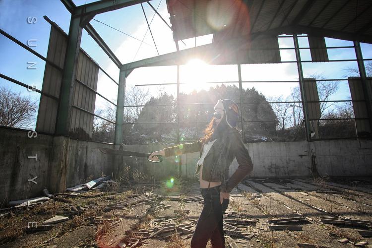 Girl at Ruins