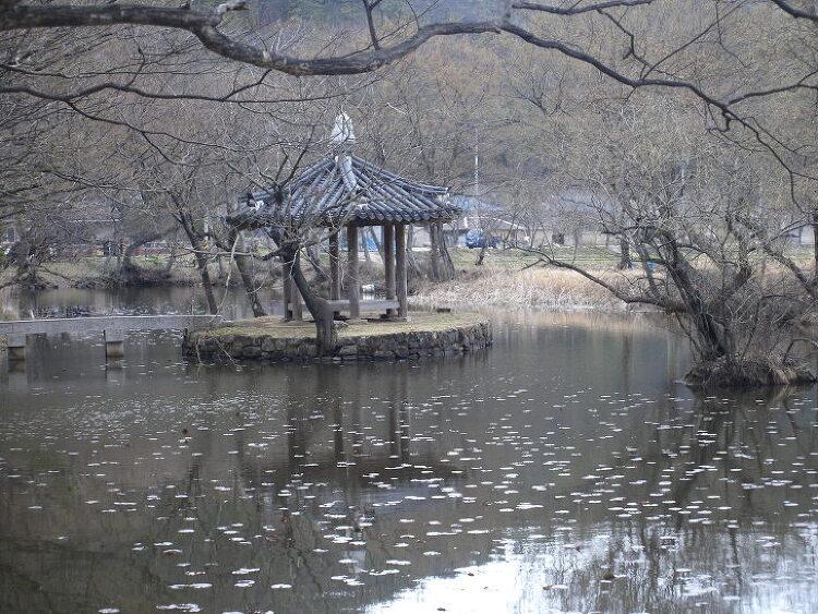 [경남 고성 여행지] 평화 가득 찬 숲과 잔잔한 연못이 인상적인 마암면 장산숲