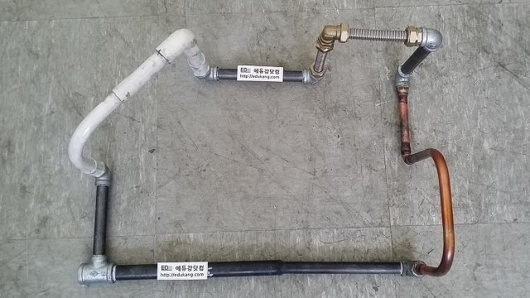 [배관기능사]2015년 제2회 배관기능사 실기작업형 완성작품