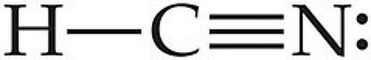 HCN의 공유 전자쌍 설명