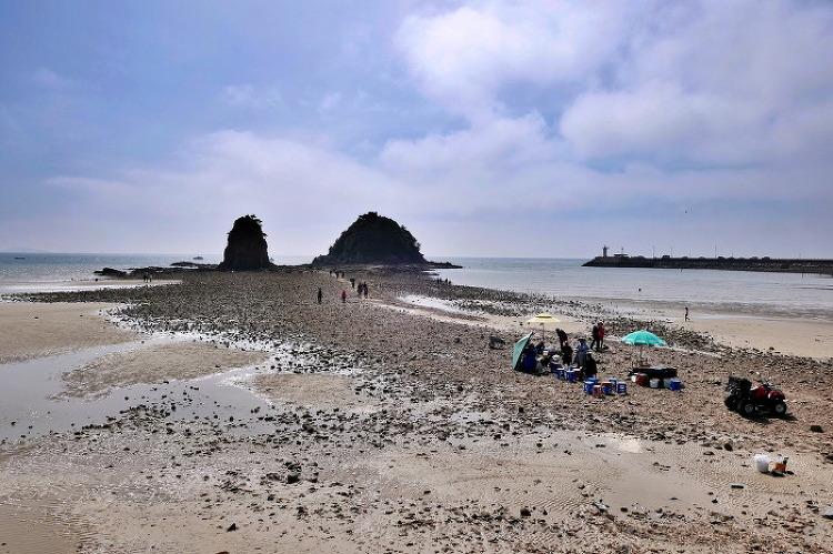 꽃지와 운여해변