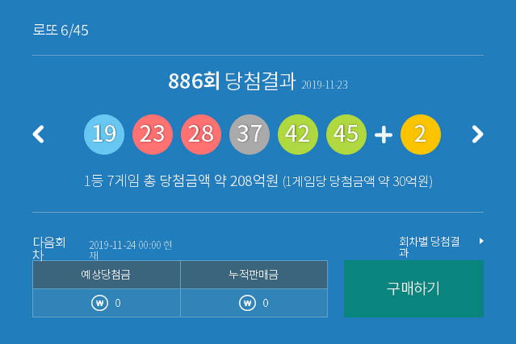 로또 886 회 당첨번호 모음 및 최근 안 나온 수, 최근 많이 나온 수