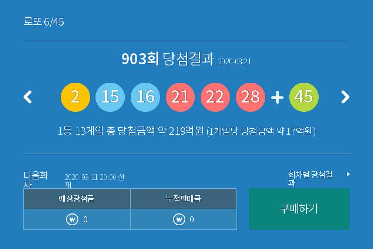로또 903 회 당첨번호 모음 및 최근 안 나온 수, 최근 많이 나온 수