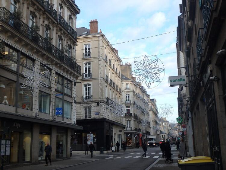 크리스마스 거리장식불1 (France, Rennes, 2018.11.23)