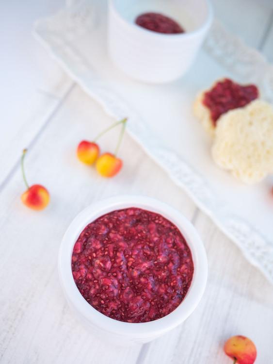 미국식 유아식-5분 완성 노슈가 라즈베리 잼 (아침 식사)