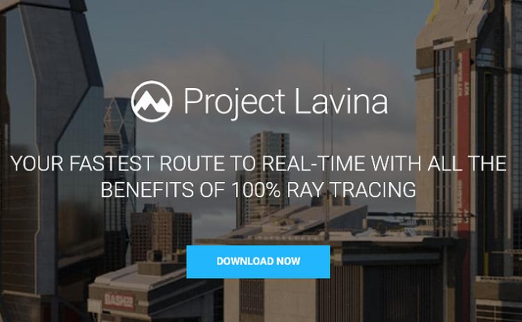 Chaos Group의 Project Lavina 테스트