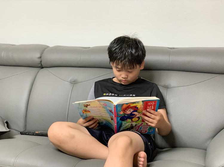초딩일기, 만화책벌레가 된 첫째아들