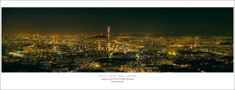 서울 야경을 한 눈에 남한산성에서 바라 본 서울야경