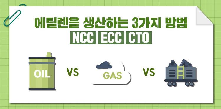 [석유화학 따라잡기] 에틸렌을 생산하는 3가지 방법  NCC, ECC, CTO