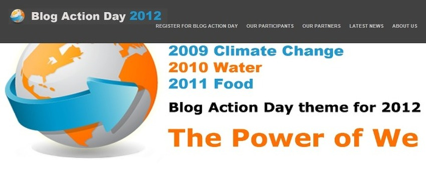 The theme for Blog Action Day 2012 is …