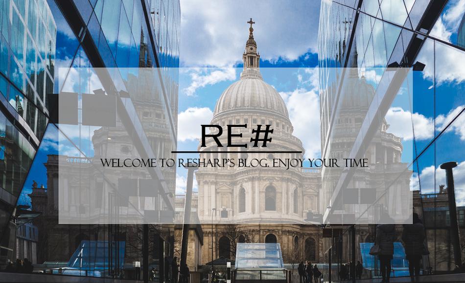 [Re# 환영인사] ReSharp의 블로그에 오신 것을 환영합니다.