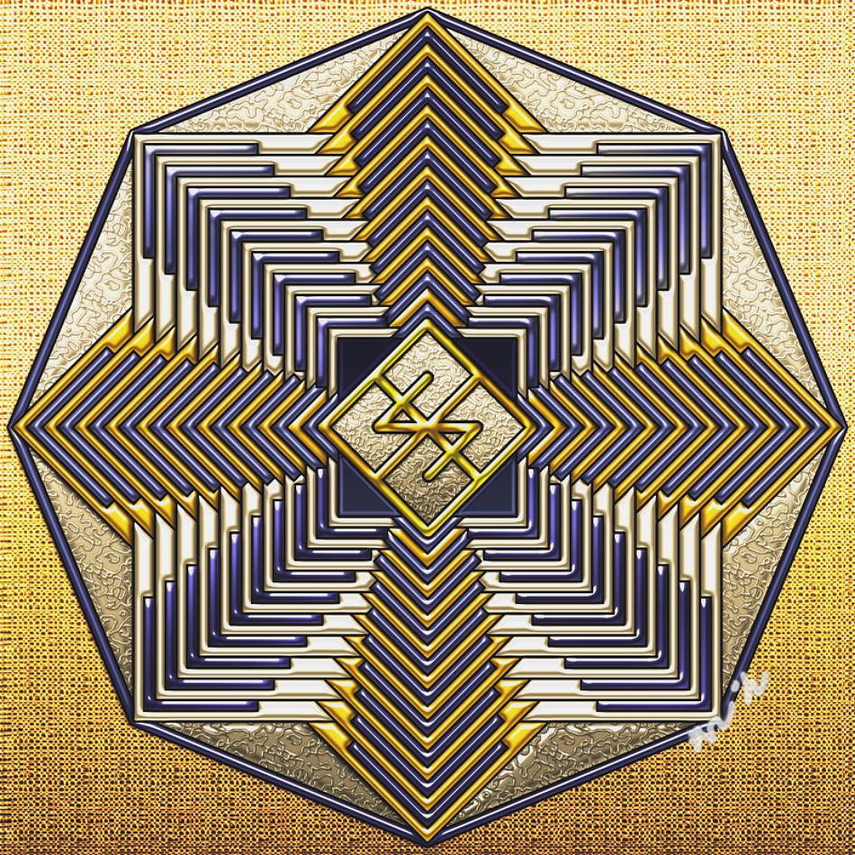 행운의 바인드룬 황금만다라 Mandala(히란야) 1a