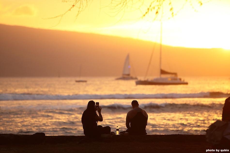[하와이 마우이 여행] 라하이나 마을 일몰